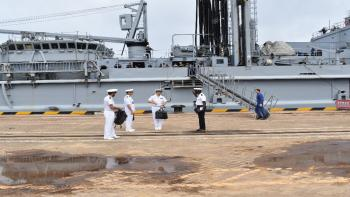 First ship call of the French Navy at the Port of Kribi